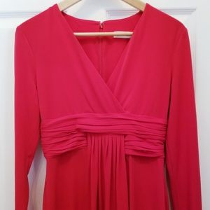 Calvin Klein | Hot red long Sleeve Dress | Size 4